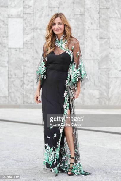 Eliana Miglio arrives at Convivio 2018 on June 5 2018 in Milan Italy