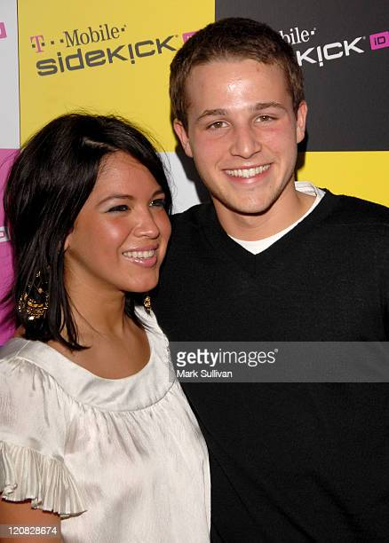 Eliana Reyes and Shawn Pyfrom during T-Mobile SIDEKICK iD Launch at T-Mobile Sidekick Lot in Hollywood, California, United States.