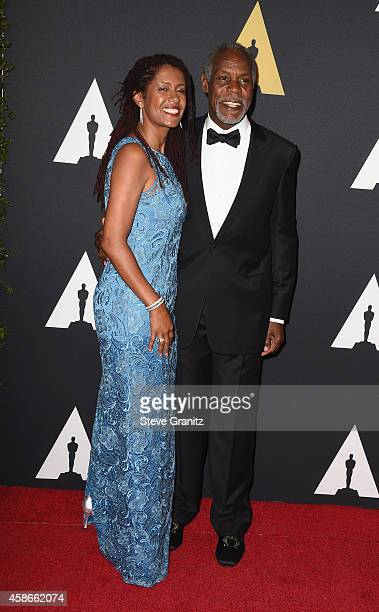 Eliane Cavalleiro and actor Danny Glover attend the Academy Of Motion Picture Arts And Sciences' 2014 Governors Awards at The Ray Dolby Ballroom at...