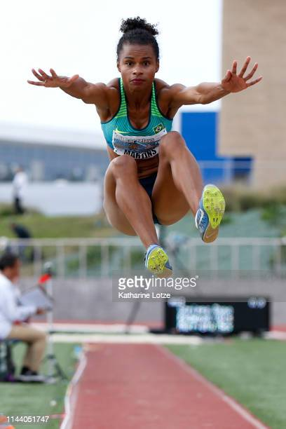 Eliane Martins of Brazil competes in the women's long jump on the second day of the 61st Mt SAC Relays at Murdock Stadium at El Camino College on...