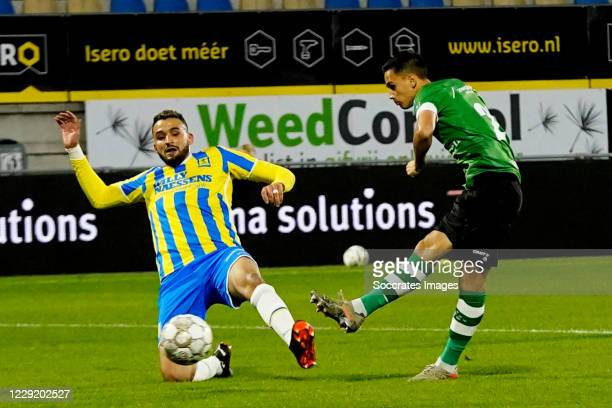 Eliano Reijnders of PEC Zwolle scores 0-1 during the Dutch Eredivisie match between RKC Waalwijk v PEC Zwolle at the Mandemakers Stadium on October...