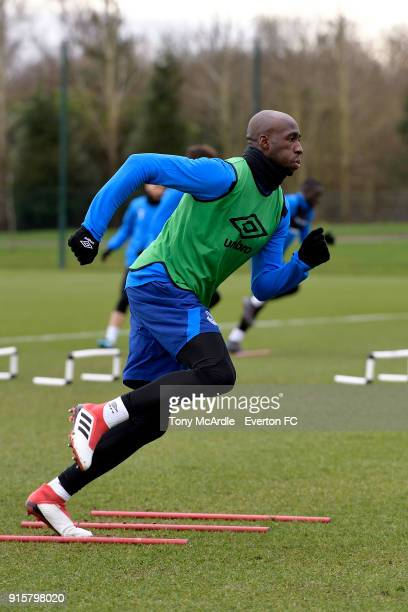 Eliaquim Mangala during the Everton training session at USM Finch Farm on February 8 2018 in Halewood England