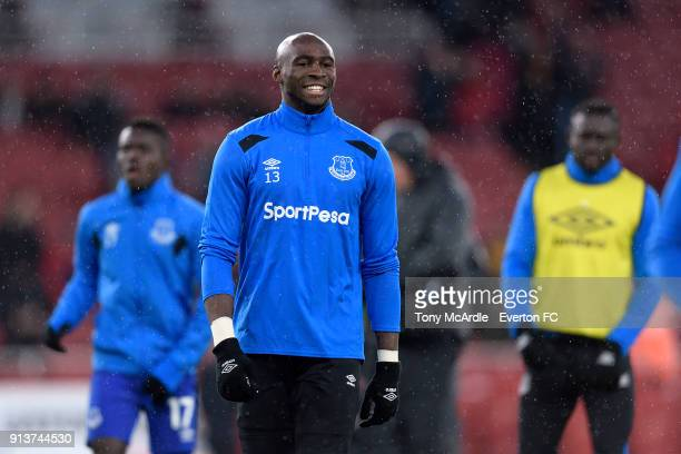 Eliaquim Mangala of Everton before the Premier League match between Arsenal v Everton at Emirates Stadium on February 3 2018 in London England