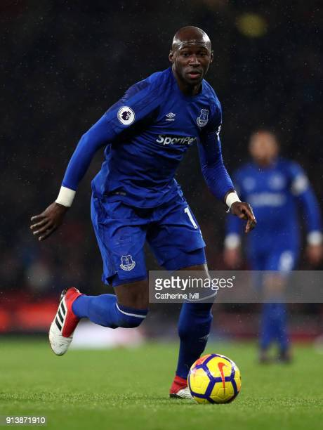 Eliaquim Mangala of Everton during the Premier League match between Arsenal and Everton at Emirates Stadium on February 3 2018 in London England