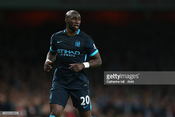 Eliaquim Mangala of Manchester City during the Barclays Premier League match between Arsenal and Manchester City at the Emirates Stadium on December...