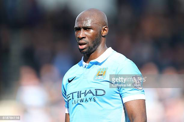 Eliaquim Mangala of Manchester City during the Barclays Premier League match between AFC Bournemouth and Manchester City at Vitality Stadium on April...