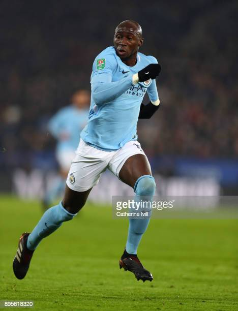 Eliaquim Mangala of Manchester City during the Carabao Cup QuarterFinal match between Leicester City and Manchester City at The King Power Stadium on...