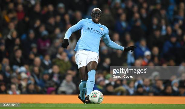 Eliaquim Mangala of Manchester City during the Carabao Cup SemiFinal First Leg match between Manchester City and Bristol City at Etihad Stadium on...