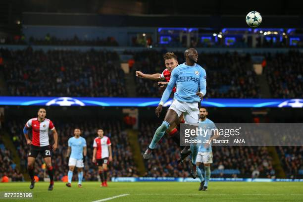 Eliaquim Mangala of Manchester City during the UEFA Champions League group F match between Manchester City and Feyenoord at Etihad Stadium on...