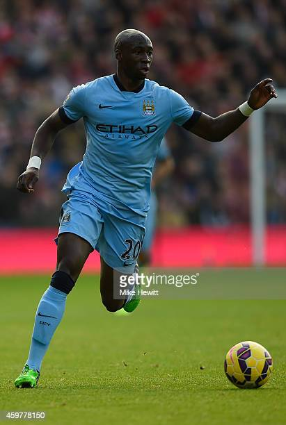 Eliaquim Mangala of Manchester City in action during the Barclays Premier League match between Southampton and Manchester St Mary's Stadium on...