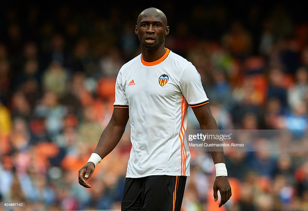 Eliaquim Mangala of Valencia looks on during the La Liga match between Valencia CF and Granada CF at Mestalla Stadium on November 20, 2016 in Valencia, Spain.