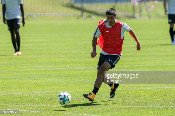 Elias Abouchabaka of RB Leipzig controls the ball during the Training Camp of RB Leipzig on July 21 2017 in Seefeld Austria