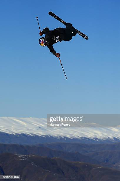 Elias Ambuehl of Switzerland competes in the FIS Freestyle Ski World Cup Slopestyle Qualification during the Winter Games NZ at Cardrona Alpine...