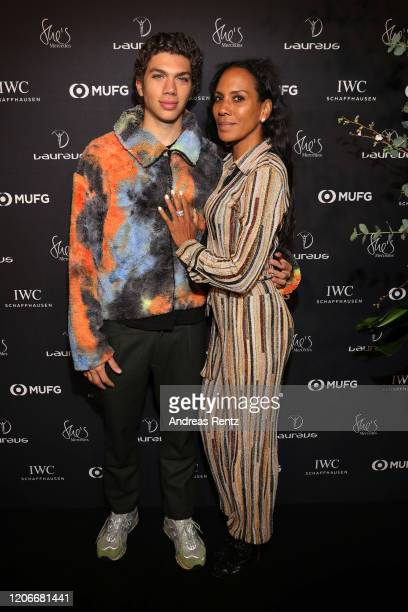 Elias Becker and Barbara Becker attend She's Mercedes prior to the 2020 Laureus World Sports Awards on February 16 2020 in Berlin Germany