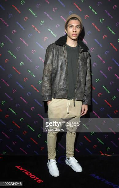 Elias Becker attends the Christian Louboutin x Antidote Party at Le Petit Palace on January 17 2020 in Paris France
