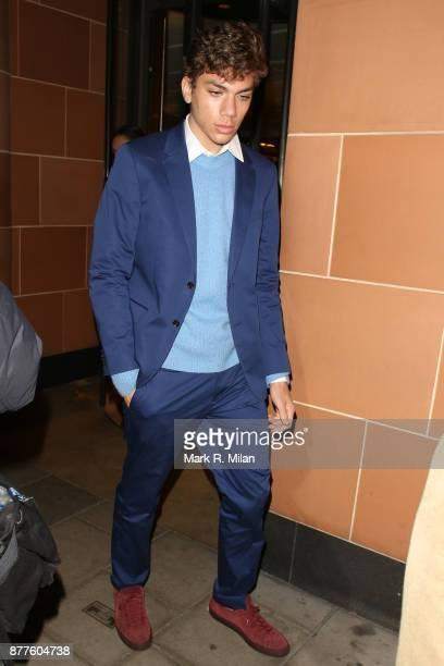 Elias Becker celebrating Boris Becker's Birthday at C London restaurant on November 22 2017 in London England