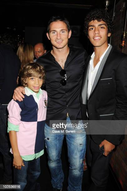 Elias Becker Frank Lampard and Noah Becker attend Boris Becker's birthday party at Mortons on June 29 2010 in London England