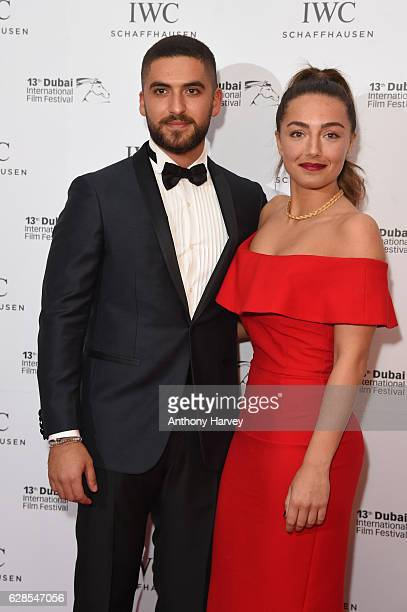 Elias El Indari and guest attend the fifth IWC Filmmakejimin Manr Award gala dinner at the 13th Dubai International Fil Festival during which Swiss...
