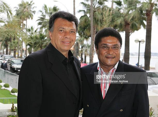 Elias Figueroa and Eusebio Da Silva Ferreira Portugese legends Eusebio and Chilean hero Elias joined Celador international in Cannes today at the...