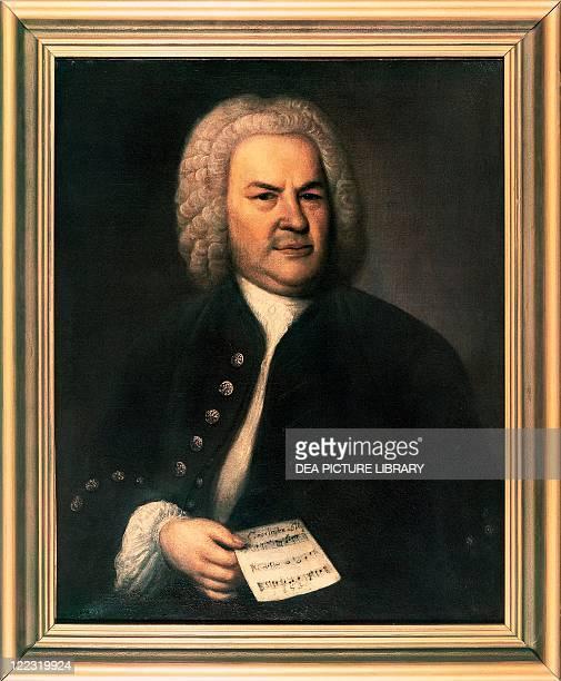 Elias Gottlob Haussmann Portrait of Johann Sebastian Bach German composer and organist