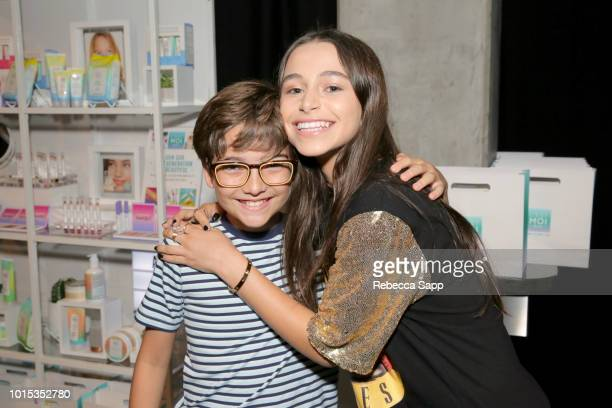 Elias Harger and Sky Katz at Backstage Creations Celebrity Retreat At Teen Choice 2018 Day 1 at The Forum on August 11 2018 in Inglewood California