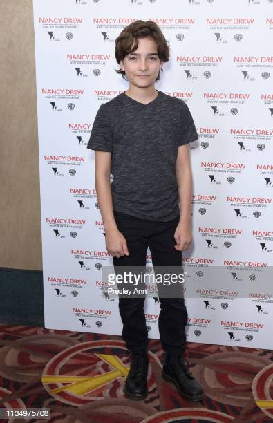 Elias Harger attends the red carpet premiere of 'Nancy Drew and the Hidden Staircase' at AMC Century City 15 on March 10 2019 in Century City...