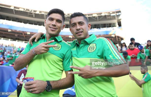 Elias Hernandez and Martin Barragan of Mexico pose for a photo prior to a Group C match between Mexico and Jamaica as part of CONCACAF Gold Cup 2017...