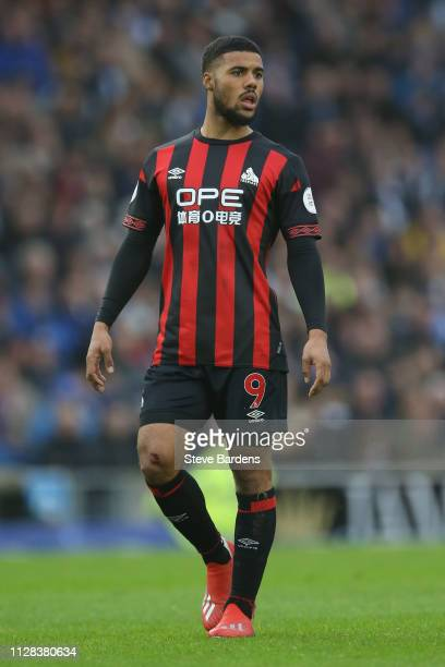 Elias Kachunga of Huddersfield Town during the Premier League match between Brighton Hove Albion and Huddersfield Town at American Express Community...