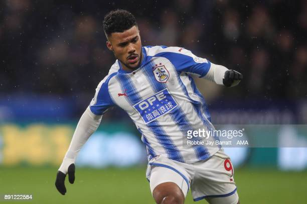 Elias Kachunga of Huddersfield Town during the Premier League match between Huddersfield Town and Chelsea at John Smith's Stadium on December 12 2017...
