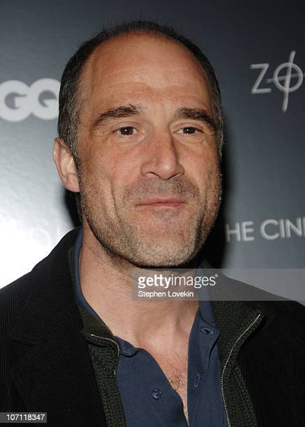 Elias Koteas during Zodiac New York City Screening Hosted by The Cinema Society and GQ Inside Arrivals at Tribeca Grand Screening Room in New York...