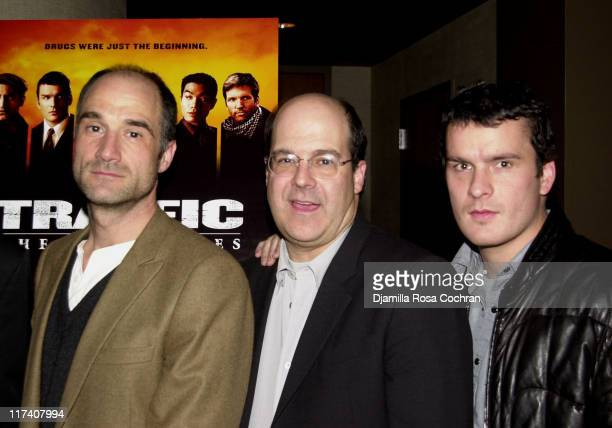 Elias Koteas Jeff Wachtel and Balthazar Getty during USA Network's Special Advance Screening and After Party of Part One of Traffic The Miniseries at...