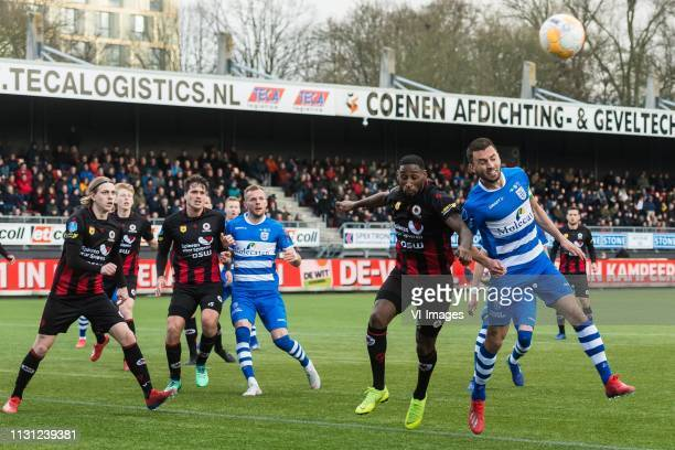 Elias Mar Omarsson of Excelsior Jerdy Schouten of Excelsior Jurgen Mattheij of Excelsior Lennart Thy of PEC Zwolle Jeffry Fortes of Excelsior Bram...
