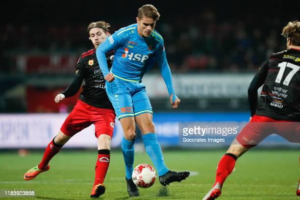Elias Mar Omarsson of Excelsior Rotterdam, Micky van de Ven of FC Volendam during the Dutch Keuken Kampioen Divisie match between Excelsior v FC...