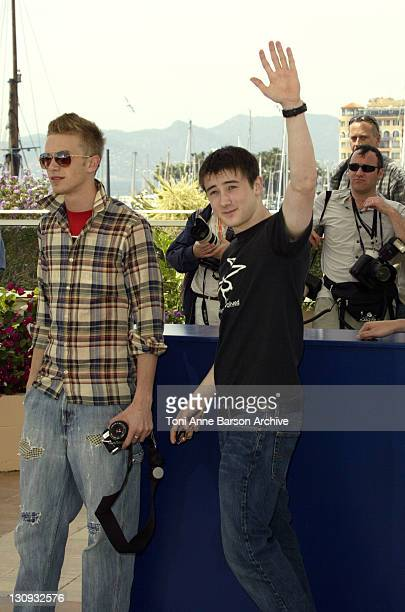 Elias McConnell and Alex Frost during 2003 Cannes Film Festival 'Elephant' Photo Call at Palais des Festivals in Cannes France