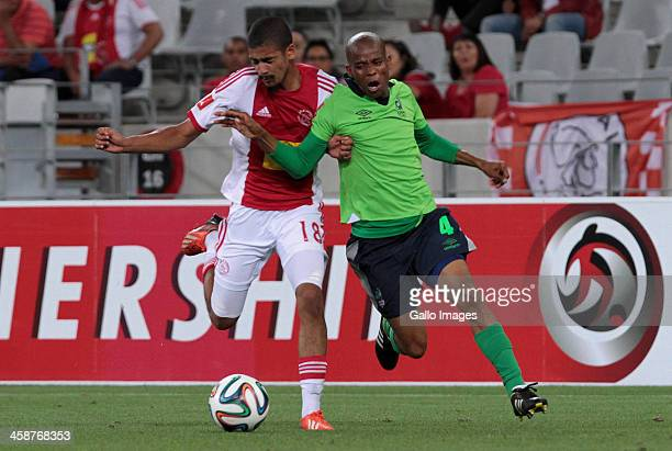 Elias Ngwepe of Platinum Stars in action during the Absa Premiership match between Ajax Cape Town and Platinum Stars at Cape Town Stadium on December...