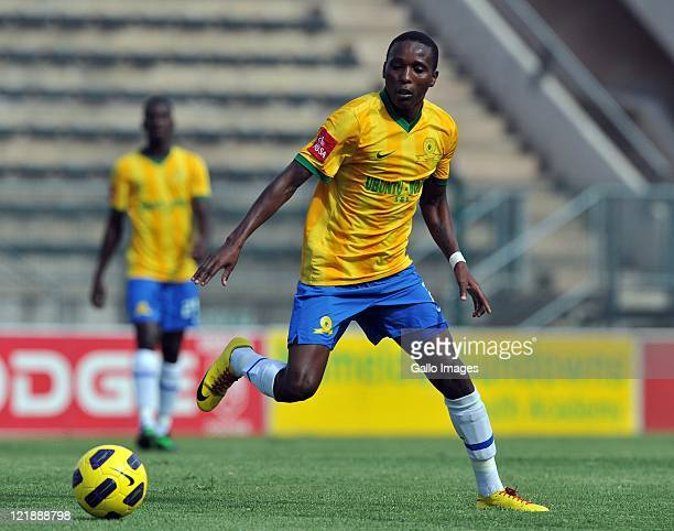 Elias Pelembe of Sundowns during the Absa Premiership match between Mamelodi Sundowns and Golden Arrows at Lucas Masterpieces Moripe Stadium on March...