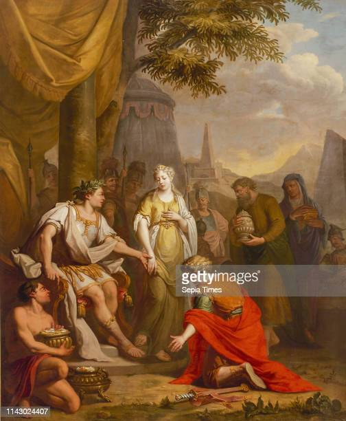 Elias van Nijmegen Generosity of Scipio wallpaper painting canvas linen oil At the conquest of Carthage Nova in Spain the Roman troops loot an...