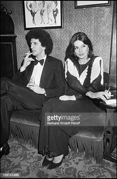Elie Chouraqui and Anouk Aimee attend a party organized by Manuela Papatakis in Paris