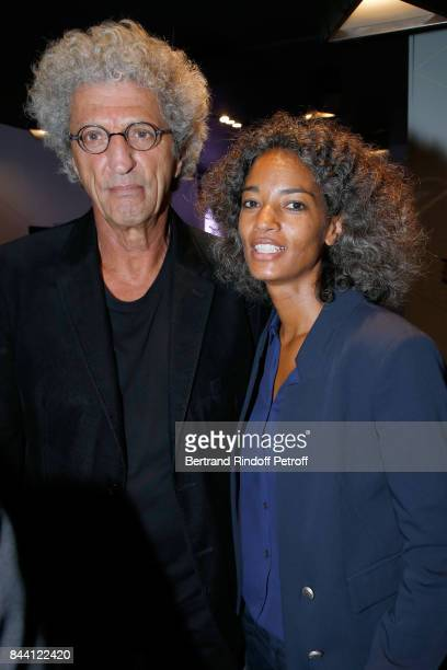 Elie Chouraqui and his wife Isabel Sulpicy attend the BFM TV's Press Conference to announce their TV Schedule for 2017/2018 on September 8 2017 in...