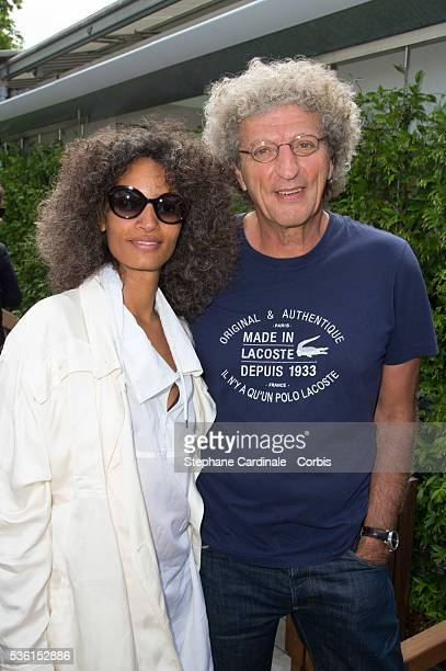 Elie Chouraqui and Wife Isabel Sulpicy attend the 2015 Roland Garros French Tennis Open Day Eleven on June 3 2015 in Paris France