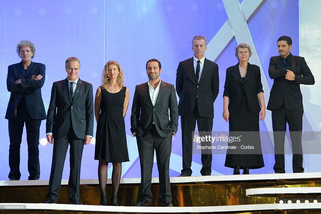 Elie Chouraqui, Christophe Lambert, Alexandra Lamy, Gilles Lellouche and Pascal Elbe attend the Tribute to French Cinema during the Marrakech 10th Film Festival.