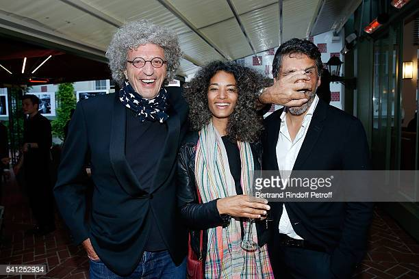 Elie Chouraqui his wife Isabel Sulpicy and Pascal Elbe attend the Hotel Normandy ReOpening at Hotel Normandy on June 18 2016 in Deauville France