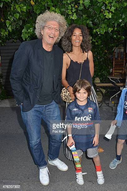 Elie Chouraqui his wife Isabel Sulpicy and son Solal attend day two of the Fooding 15th Anniversary Party at Marche Paul Bert Serpette Porte de...