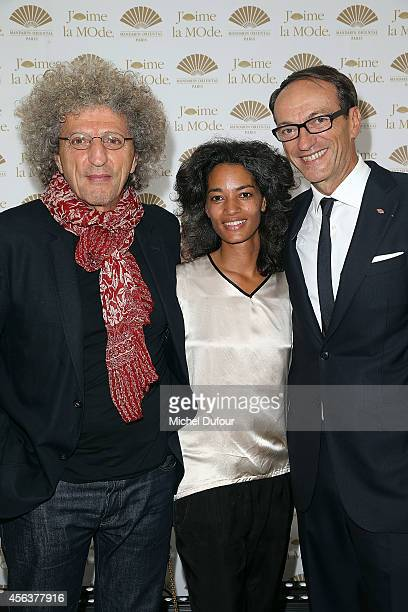 Elie Chouraqui Isabel Sulpicy and Philippe Leboeuf attend 'J'aime La Mode 2014' party in Mandarin Oriental as part of the Paris Fashion Week...