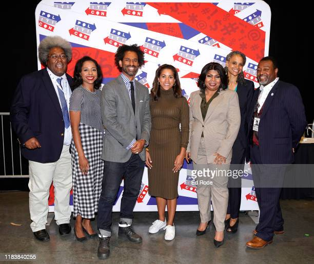 Elie Mystal Briahna Gray Touré Alexi McCammond April Ryan Maya Wiley and Malcolm Nance attend day 2 of Politicon 2019 at Music City Center on October...