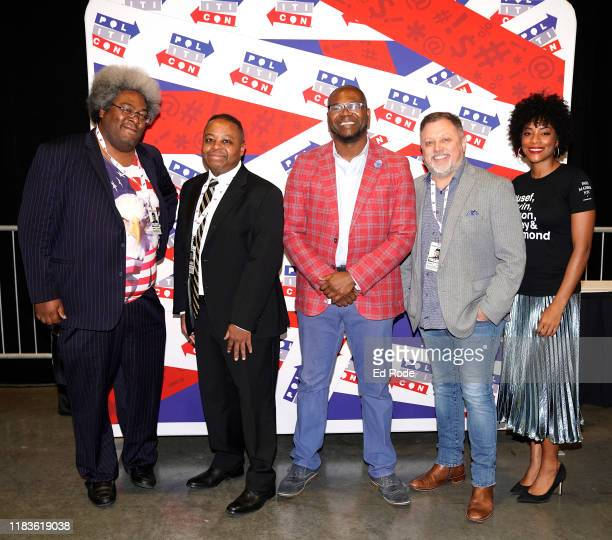 Elie Mystal Elwood Watson Dr Jason Johnson Tim Wise and Zerlina Maxwell attend the 2019 Politicon at Music City Center on October 26 2019 in...