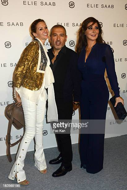 Elie Saab and guests attend the Elie Saab show as part of the Paris Fashion Week Womenswear Spring/Summer 2014 at the Espace Ephemere des Tuileries...