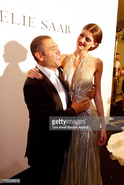 Elie Saab during 2004 Paris Fashion Week Elie Saab Haute Couture After Show Backstage at Palais Chaillot in Paris France