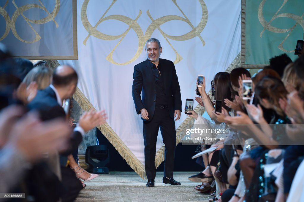 Elie Saab is seen on the runway during the Elie Saab Haute Couture Fall/Winter 2017-2018 show as part of Haute Couture Paris Fashion Week on July 5, 2017 in Paris, France.