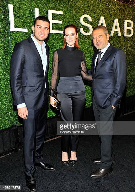 Elie Saab Jr actress Jena Malone and designer Elie Saab attend a private Elie Saab dinner on November 13 2014 in Los Angeles California #ElieSaabLA